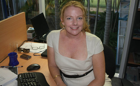 Donna Johnston ... the mother-of-three has been appointed Byron Shire media communications officer. She is the first person appointed to the position by the council.