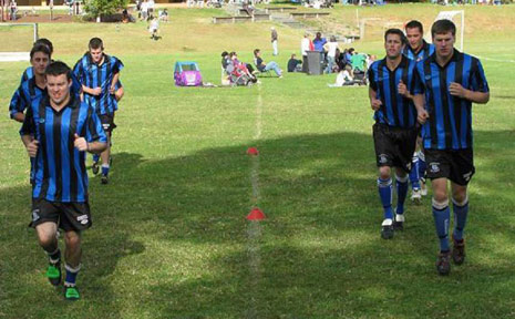 Bangalow Bluedogs . . .getting ready for a new season in the Far North Coast soccer competition. Pre-season training has begun.