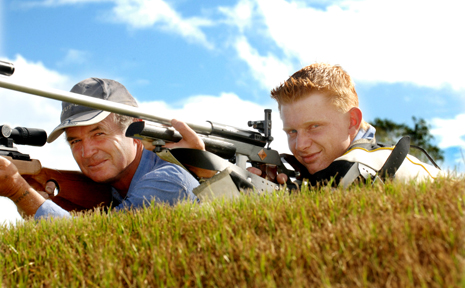 ON THE MARK: Grafton Rifle Club members John and Robert Black have travelled all over NSW to shoot for glory with state representative teams