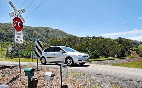 The Mackays Road crossing.