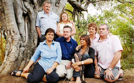 LONG MEMORIES: Parents of the boys who died in the Broken Head accident (back from left) Robert and Karen Eveleigh and (front from left) Jacky and Rob Wells, Maria Bolt, Anne and Mark New.