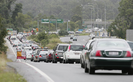 Congestion on the Bruce Highway.