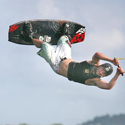 Corey Bradley in action at the Suncoast Watersports park at Bli Bli. Photo: Barry Leddicoat/180808