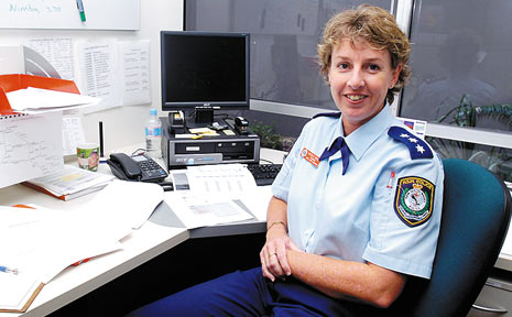 Inspector Nicole Bruce plans on staying put in Lismore after her transfer to the Richmond Local Area Command from Orange.