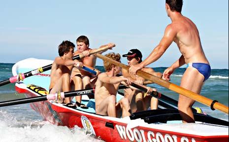 Woolgoolga Surf Lifesaving Club's new surfboat, the Spirit of Woopi VI.