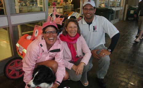 Deborah De Williams and Harald Ulriksen, with Deborah's Border Collie Maggie, are raising funds for breast cancer research.