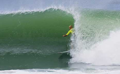 Byron Bay's Garrett Parkes at the Billabong Pro Junior at Coffs Harbour last weekend.