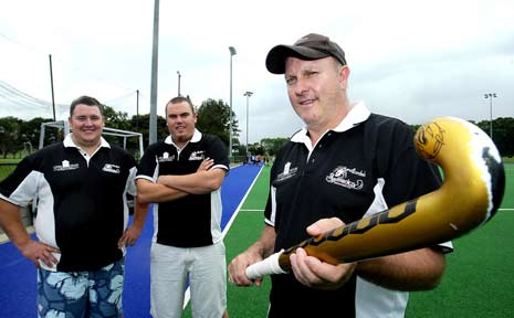 Redbacks coaches Andrew Kirby, Shane Colefax and Geoff Wotherspoon.