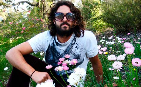 Travelling psych-rock singer songwriter Skotty Fairclough.