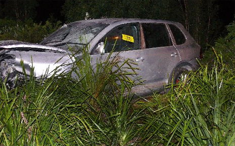 Dale Shearer crashed his car on the Sunshine Motorway at Peregian Springs.