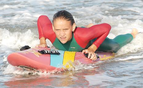 Maegan Cass, 13, prepares for Queensland titles.