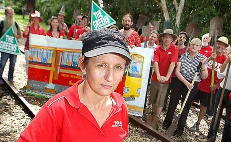 Trains on Our Tracks (TOOT) president Karin Kolbe, with her