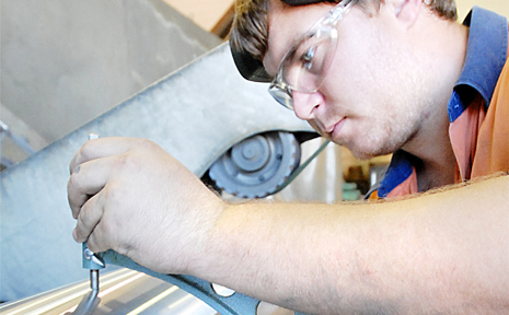 Full-time AustChrome employee Rod Cunningham is hard at work and full of job confidence during an apparent economic downturn.
