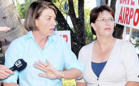 Premier Anna Bligh and Member for Whitsunday Jan Jarratt at Airlie Beach.