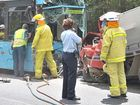 A man died when a bus and a four-wheel-drive crashed at Kulangoor near Yandina. Photo:Brett Wortman