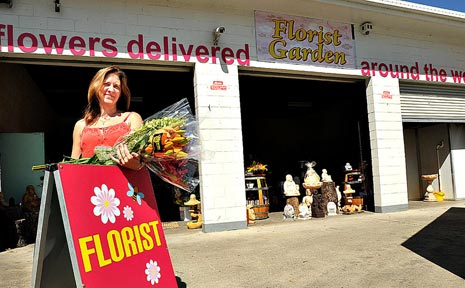 Kylie Lewin says business at the Natural Elegance Florist is bustling along.