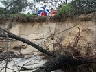 The Coast had a lucky escape earlier this year when Cyclone Hamish turned out to sea, although erosion did occur on the southern end of Mooloolaba, leaving this beach entry high and dry.