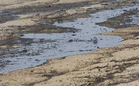 The Pacific Venturer oil spill on Bokarina Beach