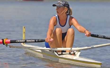 GRAFTON High School rower Jess Glawson competes in the South Grafton High School regatta on Sunday.