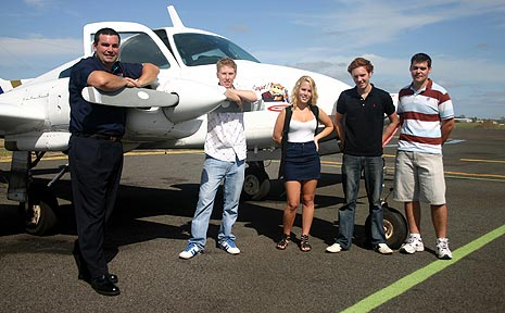 Richard King-Siem and his students for the Wide Bay Australia International Airshow.