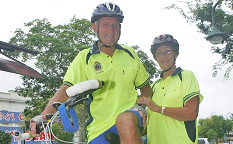 All in the name of raising money for prostate cancer research, Don and Elaine Lynch will take a 630km bike ride from Bundaberg to Nerang.