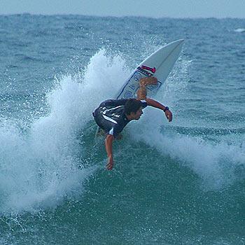 Eli Criaco on his way to winning his fourth Sunshine Coast regional surfing title. Photo: David Walker