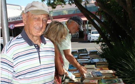 PICTURED is FOL volunteer Bob Levett at the stall.