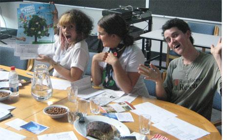 Make Waves organisers Zoey Hopkins (left), Elia Hauge and Finell McEwen.
