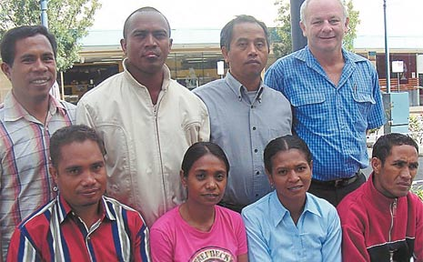 Visiting farmers from East Timor arrive in Warwick to learn methods on improving crop yields.