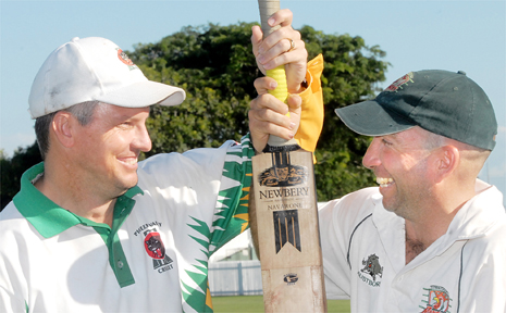 Pioneer Valley captain Troy Thompson and Walkerston skipper Dave Garner are smiling now, but the nicities will end when the Poole Cup grand final begins today.