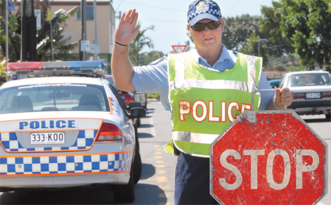 Constable Simon Robinson, of the Mackay Traffic Branch, is disappointed 300 Mackay drivers have been caught drink-driving in three months. Const Robinson and District Superintendent of Traffic Senior Sergeant Richard Turner are pleading with drivers to stop and think before getting behind the wheel.