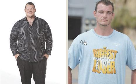 Andrew Miles left the Biggest Loser at a trim 105.6kg.