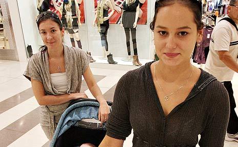 Tweed sisters Christine Bruce (back) and Sarah Moore have already spent their $900 stimulus bonus.