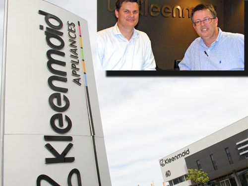 Collapse: Kleenmaid owners Brad and Andrew Young (inset).