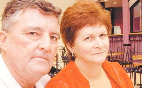Brett's father John Ward, and his step-mother Kathy Ward.