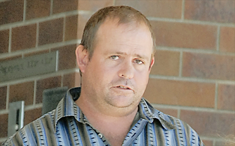 Clifford Aspinall leaves Mackay Courthouse yesterday after pleading guilty to stealing 1700 litres of diesel fuel from a depot in Glenden.