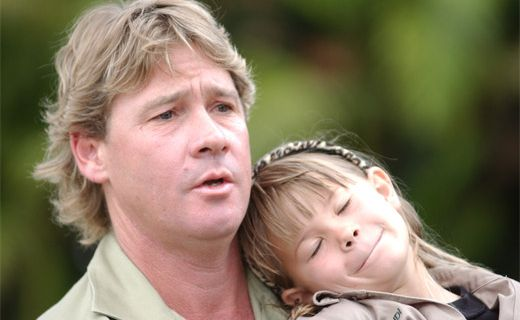 Steve and Bindi Irwin in 2004.