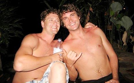 Jacob McGrath (left) and Paul Johnson (right), are in a Thai prison.