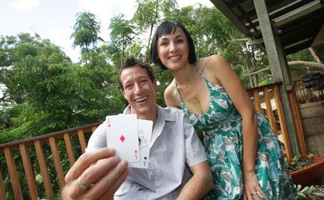 Millionaire poker player Stewart Scott after his big win.
