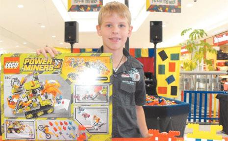 Nine-year-old Braden Cooper won the seniors Lego competition at Grafton Shoppingworld on Friday.