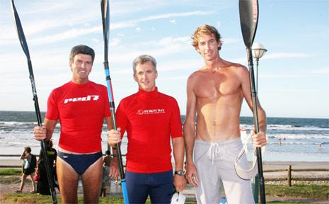 Murray Saul, Glen Lawrence, Dan McCabe and Kim Chappel are off to Hawaii for the 52km Molokai surf ski race.