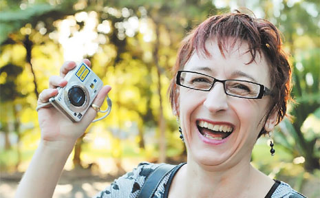 Thankful ... Helen Parkes was re-united with her lost digital camera and memories, thanks to the honesty of a stranger who put a notice in the Advocate.
