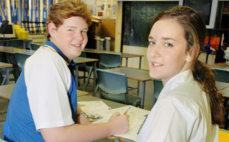 Mackay North State High School Year 12 students Aaron Brooker, 16, and Simone Maurer, 17, are achieving very high results in most of their school subjects and are well on their way to achieving a single-digit OP.