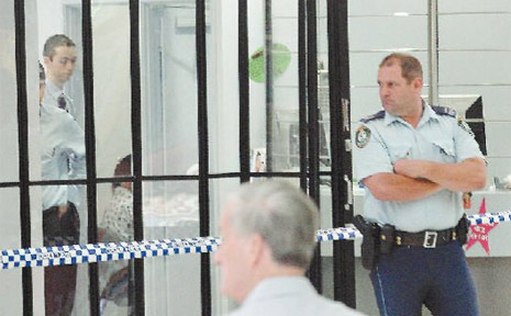 The scene of the robbery at Southern Cross Credit Union in Tweed Heads on December 31 last year.