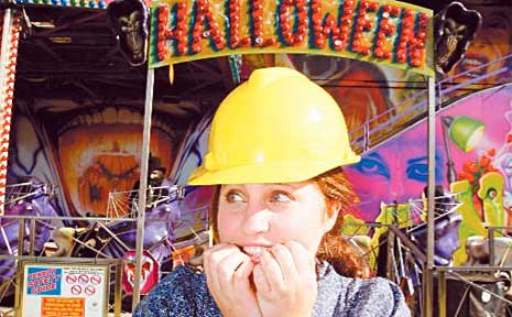 Journalist Ana Vlastaras took on the sideshow rides but wasn't so sure about the haunted house.
