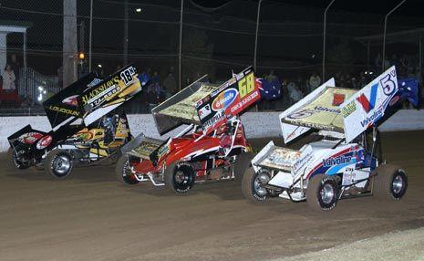 File photo of sprintcars at Lismore Speedway.