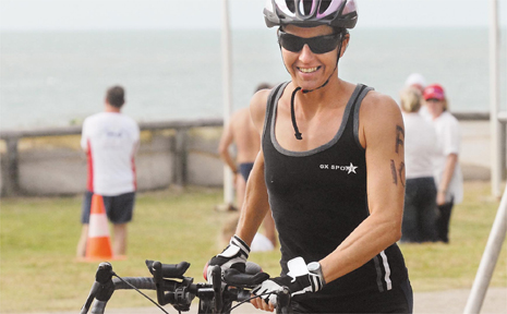 The olympic distance triathlon at Mackay Harbour