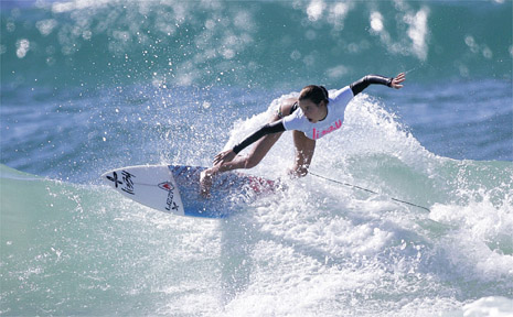 Kingscliff surfer Codie Klein on her way to claiming the coveted under-18 division of the Lizzy Surf Slam.