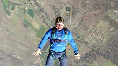 Skydiving Master: Dave McEvoy says he still gets butterflies before each skydive. Photo: Contributed