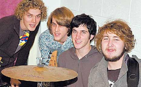 Sid Air (from left) Jackson Simon, Nick Edsall, Marcel Tussie and Rhian Willis.